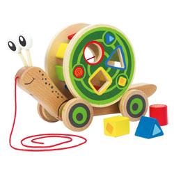Escargot roulant avec jeu de formes