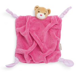 Plume Doudou Ours Framboise