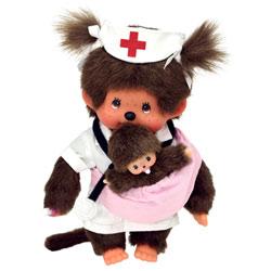 Monchhichi Infirmière et Bébé