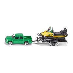 Pick Up avec remorque et Moto Neige