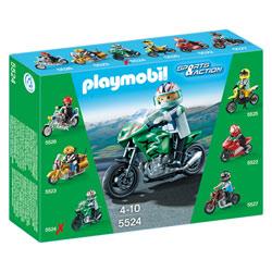 5524-Moto de sport verte