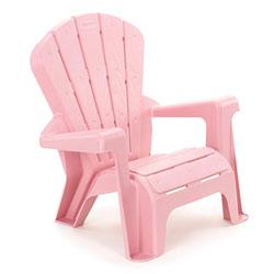 Chaise de jardin rose