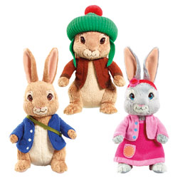 Peluche Pierre Lapin, Lily et Jeannot