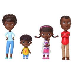 Figurines famille Docteur la peluche