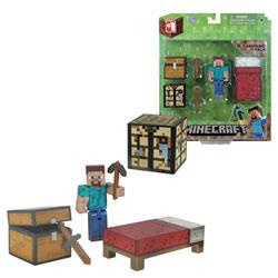 Minecraft Figurine Coffret Survie avec accessoires