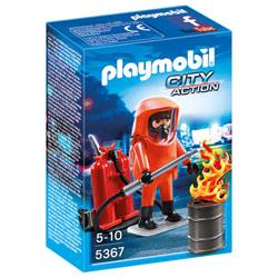 5367-Pompier avec combinaison de feu