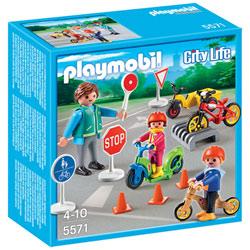 5571-Enfants avec agent de sécurité routière