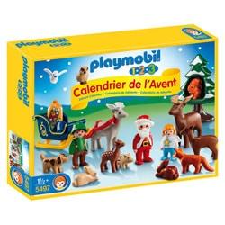 5497-Calendrier de l`Avent Père Noël et les animaux de la forêt