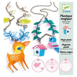 Bijoux en plastique magique le Faon et l'oiseau