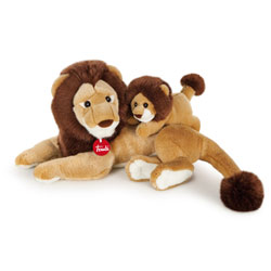 Peluches Classic Lion et son bébé 33 cm