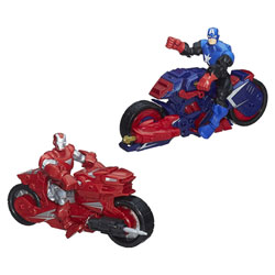 Avengers Figurine et véhicule Iron man/Captain America