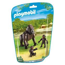 6639-Gorille avec bébés