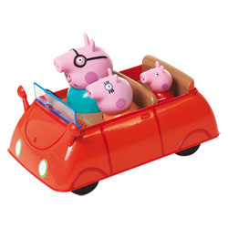 Peppa Voiture Push and Go avec 3 personnages