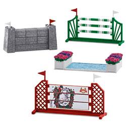 Parcours de sauts d'obstacles