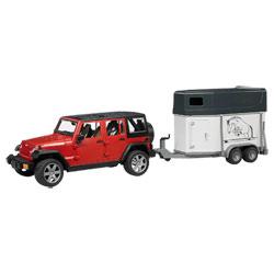 Jeep Rubicon + Remorque à chevaux