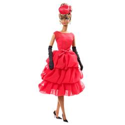 Barbie petite robe rouge
