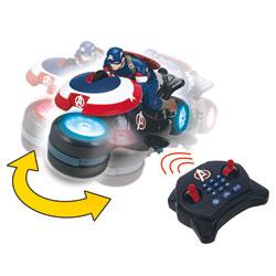 Moto Captain America Radiocommandée Multidirectionnelle