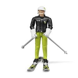 Figurine skieur avec accessoires