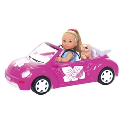 Poupée Lolly kid avec voiture New Beetle