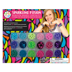 Grand coffret de perles fusion étincelante