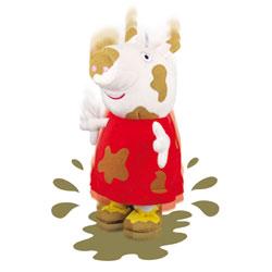 Peluche Peppa 30 cm Saute dans la boue