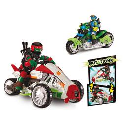 Tortues Ninja-Mutation Deluxe véhicule avec Figurine 12 cm