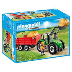 6130-Tracteur avec pelle et remorque
