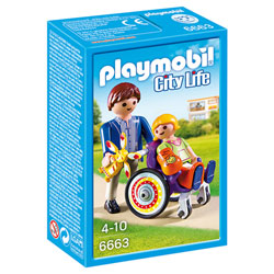 6663 - Enfant avec fauteuil roulant et papa - Playmobil City Life