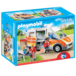 6685-Ambulance avec gyrophare et sirène