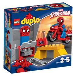 10607-Duplo Spiderman et moto
