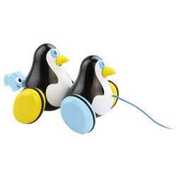 Pingouin à trainer Hans et Knut