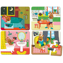 4 puzzles de 6 pièces la maison