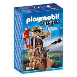 6684 - Capitaine pirate avec canon - Playmobil Les pirates