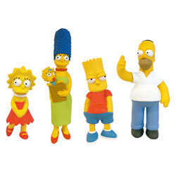 Coffret 4 Figurines Simpsons