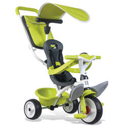 Tricycle baby balade 2 - tricycle evolutif avec roues silencieuses - dispositif roue libre - vert