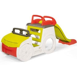 Trio voiture toboggan et bac à sable adventure car