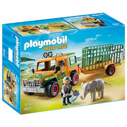 6937-Véhicule avec éléphanteau et soigneurs