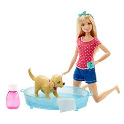 Barbie et son chien-heure du bain