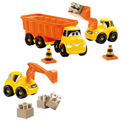 Camion Remorque avec véhicules de chantier Fast Truck