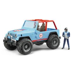 Jeep Cross Country Racer Bleue avec conducteur
