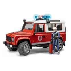 Véhicule Land Rover Defender Station avec Pompier
