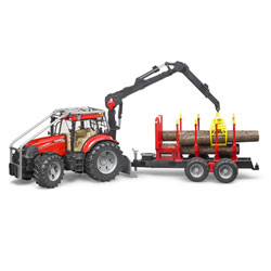 Tracteur Forestier avec remorque