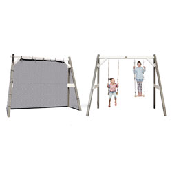 trampoline punchi aloe 300 avec chelle et couverture de kangui. Black Bedroom Furniture Sets. Home Design Ideas