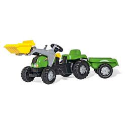 Tracteur Rollykid-x avec remorque et pelle avant