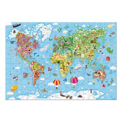 Puzzle géant carte du Monde 300 pièces