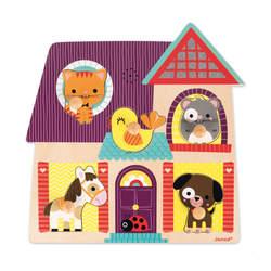 Puzzle musical en bois 5 pièces animaux