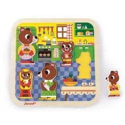 Puzzle en bois 5 pièces Chunky cuisine