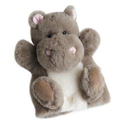Peluche douce marionnette hippo