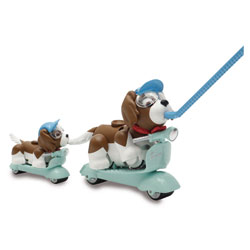 Pet Parade Family-Scooter Papa et son chiot