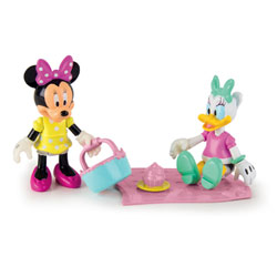 Figurines Minnie et Daisy pique-nique